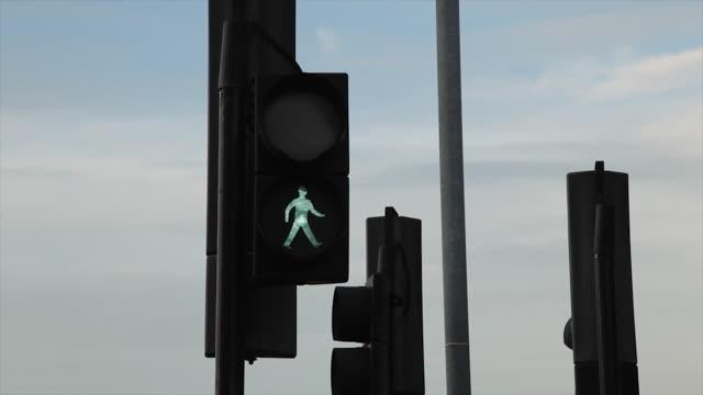 traffic light - walk don't walk signal stock videos and b-roll footage