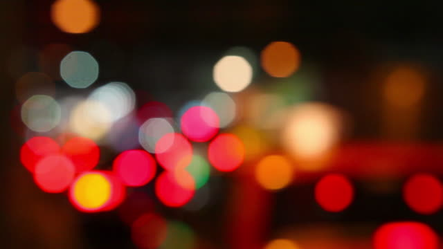 traffic lights abstract - defocussed stock videos & royalty-free footage