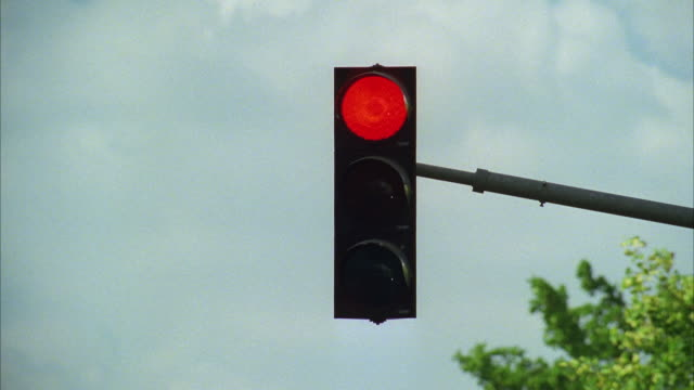 ms traffic lights against sky - traffic light stock videos & royalty-free footage