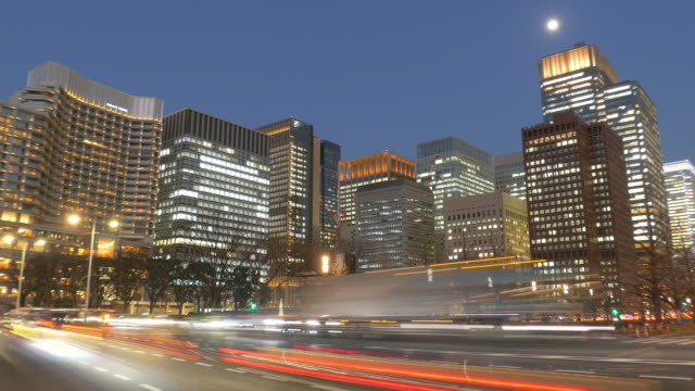 Traffic lights at Uchibori Street in Tokyo, Japan