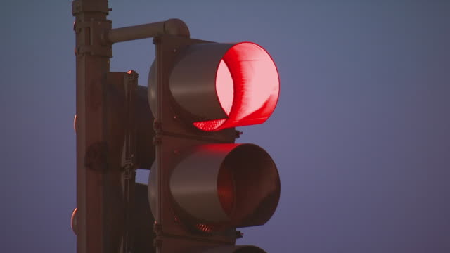traffic lights changing from red to green, usa - road signal stock videos & royalty-free footage