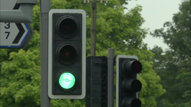 cu, traffic lights, united kingdom - green light stoplight stock videos and b-roll footage