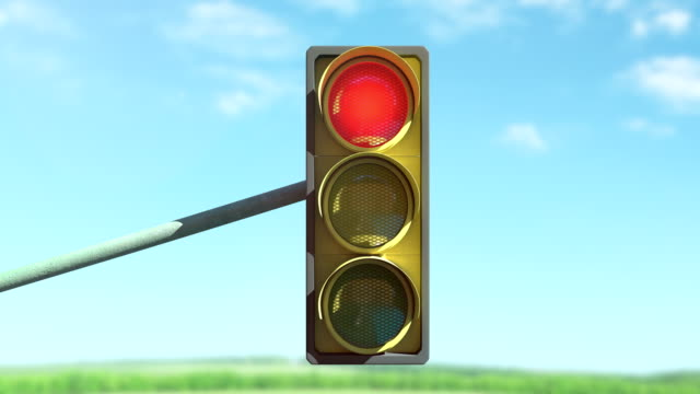 traffic lights - stop sign stock videos & royalty-free footage