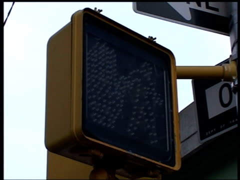 traffic lights without power and overflowing rubbish bin during blackout queens new york 15 aug 2003 - power cut stock videos & royalty-free footage