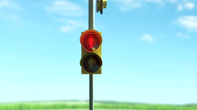 traffic lights,stop and walk icon - pedestrian crossing stock videos & royalty-free footage