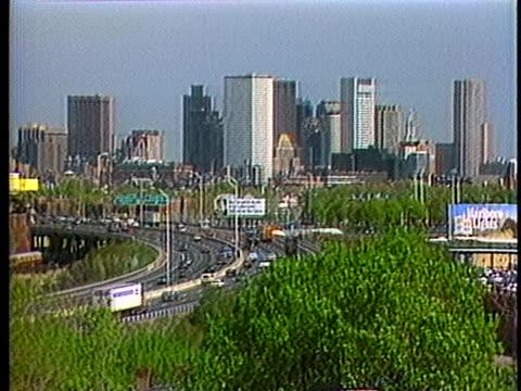 traffic moves toward downtown boston. - boston massachusetts stock videos & royalty-free footage