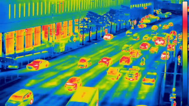 traffic moving at downtown district near seoul station / jung-gu, seoul, south korea - thermal imaging stock videos & royalty-free footage