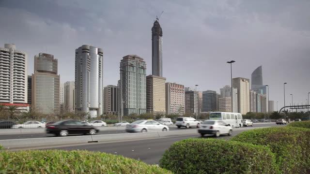 MS Traffic moving on Corniche / Abu Dhabi , Emirate of Abu Dhabi, United Arab Emirates