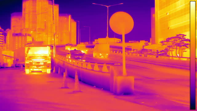 traffic moving on wookcheon overpass at downtown district near yongsan electronics market / yongsan-gu, seoul, south korea - road warning sign stock videos & royalty-free footage