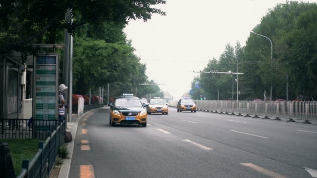 traffic neayby tiananmen square,beijing,china. - tiananmen square stock videos & royalty-free footage