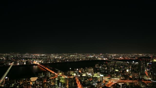 トラフィックの夜、梅田スカイビル - 商業地域点の映像素材/bロール