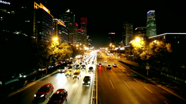 Traffic of Beijing city night