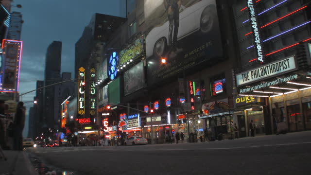 ms traffic on 42nd street at dusk, new york city, new york, usa - 42nd street stock videos & royalty-free footage