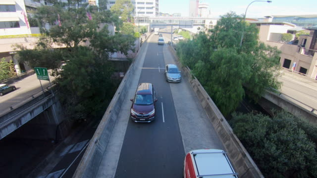 traffic on a city freeway overpass - 4k resolution stock videos & royalty-free footage