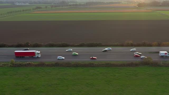 traffic on autobahn - horizontal stock videos & royalty-free footage