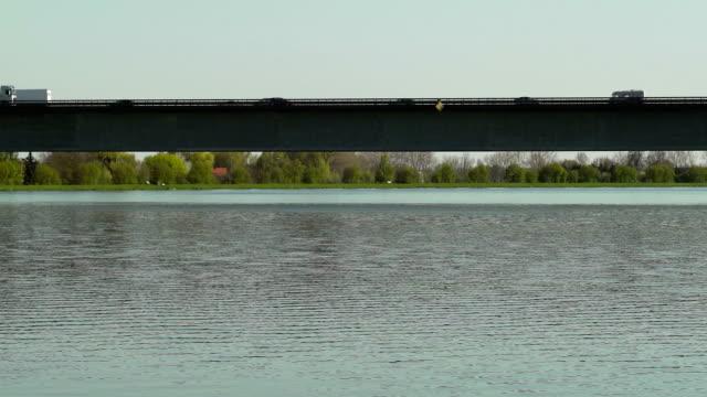 PAN Traffic On Bridge Over Big River (UDH to HD)
