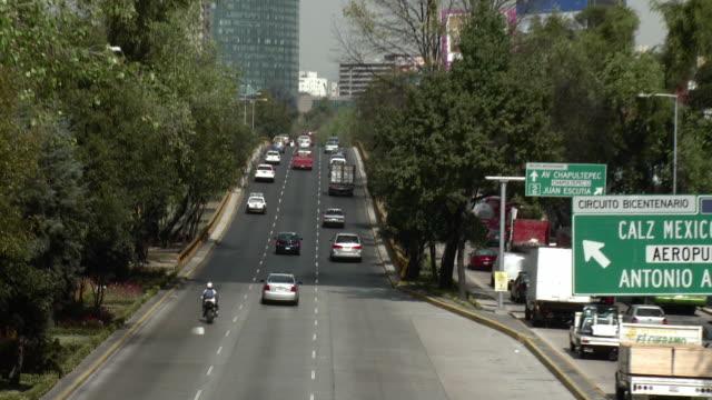WS HA ZO Traffic on Circuito Interior Street / Mexico City, Mexico
