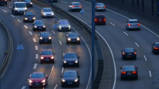 Traffic on city Highway A620, Saarbruecken, Saarland, Germany