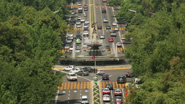 t/l, ms, ha, traffic on diana roundabout, mexico city, mexico  - lush stock videos & royalty-free footage