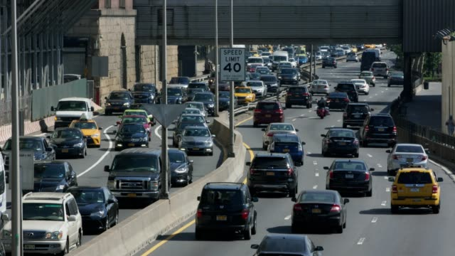 Traffic on FDR Highway Close up