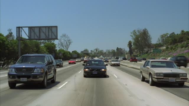 ws pov traffic on freeway / california, usa - warner bros stock videos and b-roll footage