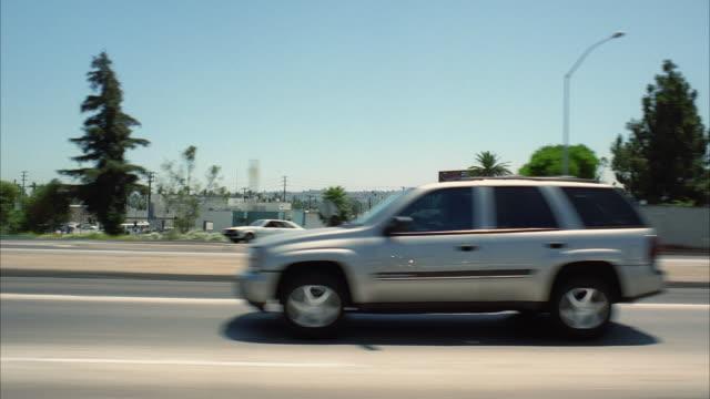 WS POV Traffic on freeway / Los Angeles, California, USA