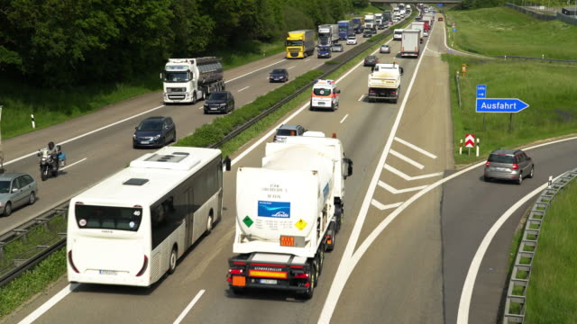 Traffic On German Autobahn