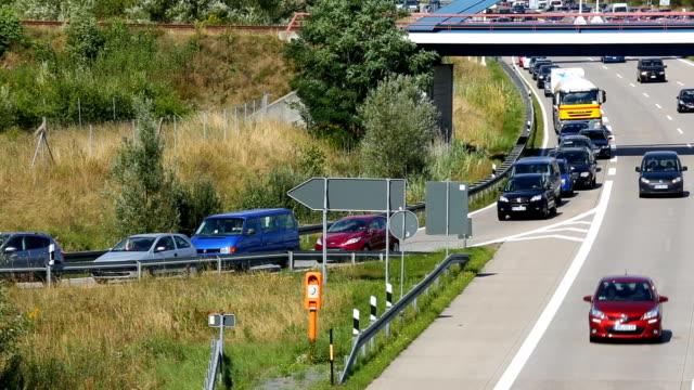 Verkehr auf der deutschen Autobahn