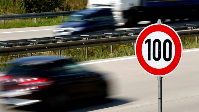 traffic on german highway - number 100 stock videos & royalty-free footage
