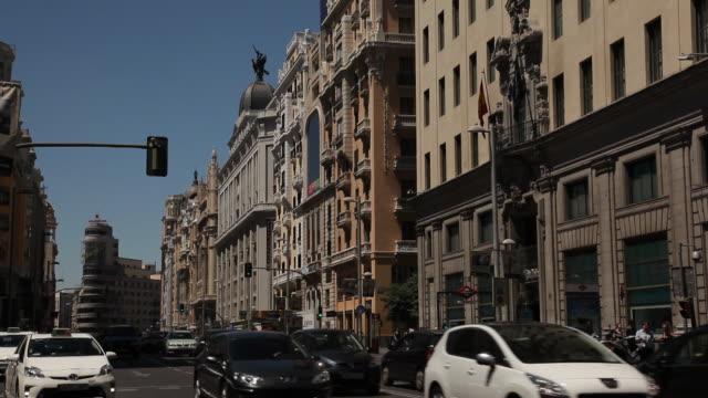 WS Traffic on Gran Via / Madrid, Spain