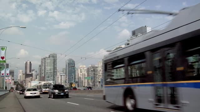 MS, Traffic on Granville Street Bridge, Vancouver, British Columbia, Canada