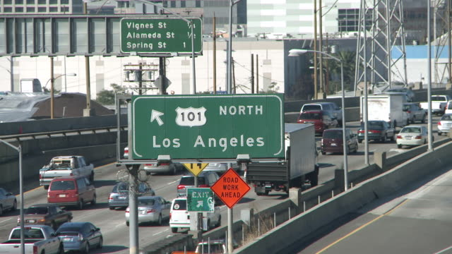 ms traffic on high way in los angeles / los angeles, california, united states - day stock videos & royalty-free footage
