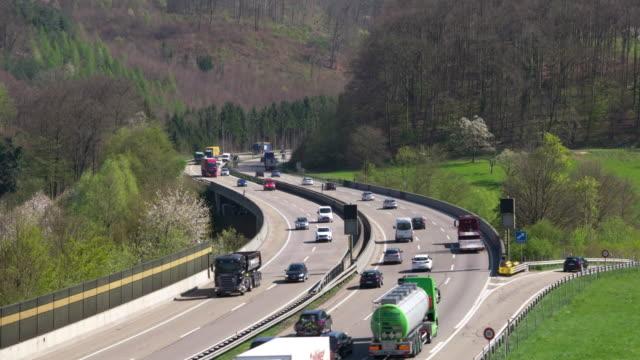 Traffic on highway 2 near Basel. Basel, Switzerland, Europe.