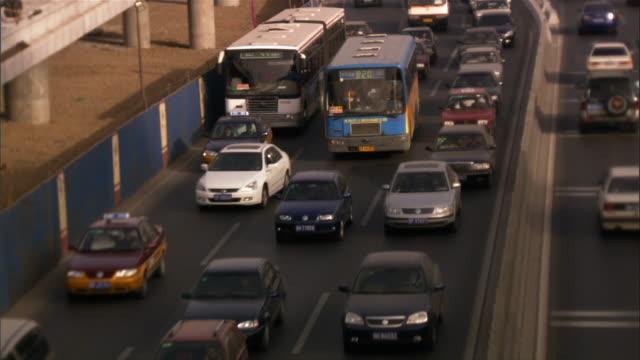 vídeos y material grabado en eventos de stock de ms, ha, traffic on highway, beijing, china - noreste de china