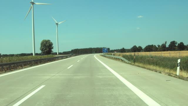 T/L POV MONTAGE traffic on highway (autobahn) / Germany
