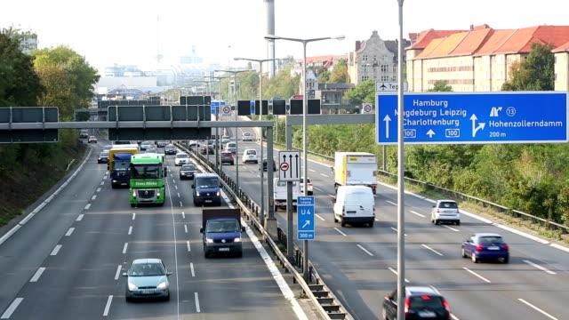 Auf der Autobahn Verkehr, Zeitraffer