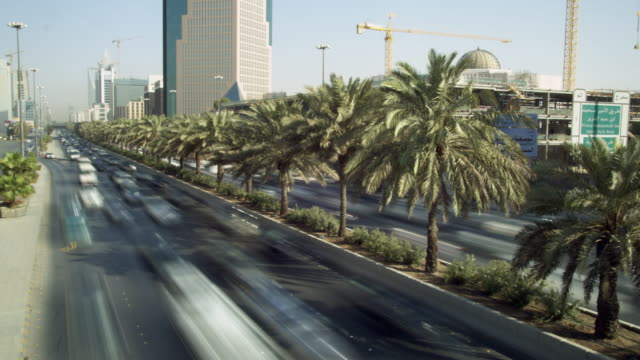 traffic on king abdullah road in central riyadh, saudi arabia. - saudi arabia stock videos and b-roll footage