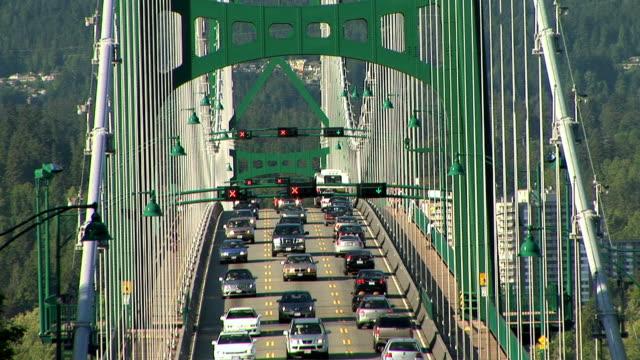 MS HA Traffic on Lion's Gate Bridge, Vancouver, British Columbia, Canada