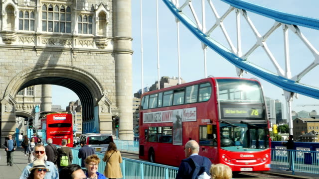 Traffic On London Tower Bridge (4K/UHD to HD)