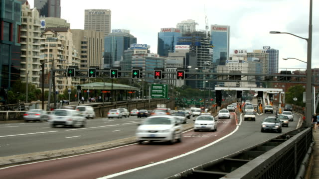 t/l traffic on north road, sydney, australia - north stock videos and b-roll footage