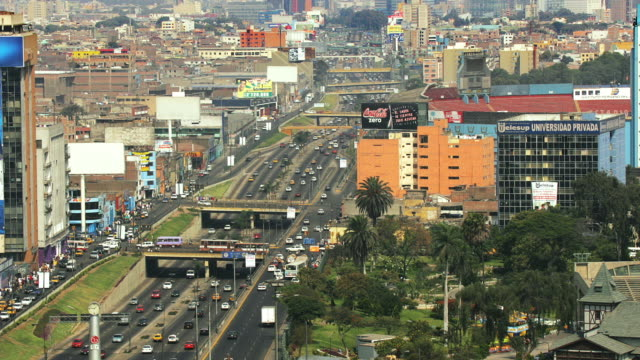 t/l, ha, ws, zo, traffic on paseo de la republica, lima, peru - lima peru stock videos and b-roll footage