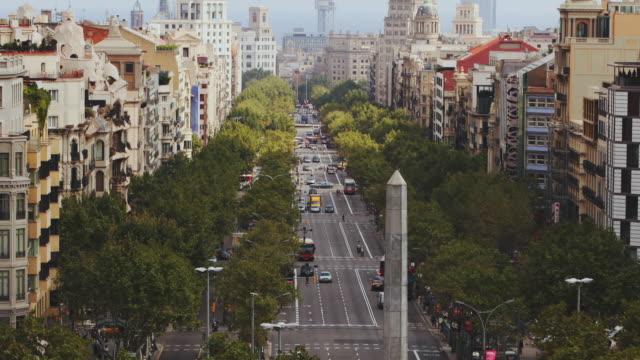 T/L HA WS Traffic on Passeig de Gracia / Barcelona, Catalonia, Spain