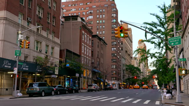 traffic on road in city - chelsea new york stock videos & royalty-free footage