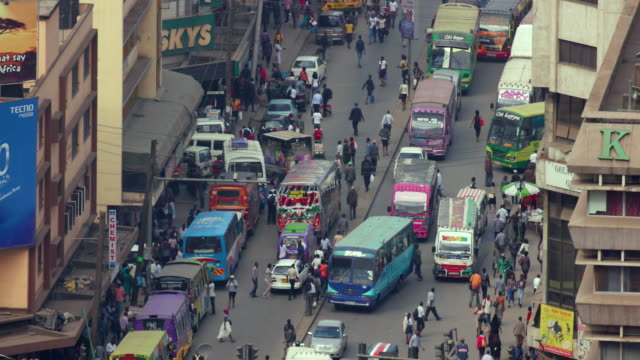traffic on ronald ngala street nairobi  kenya  africa - kenya stock videos & royalty-free footage