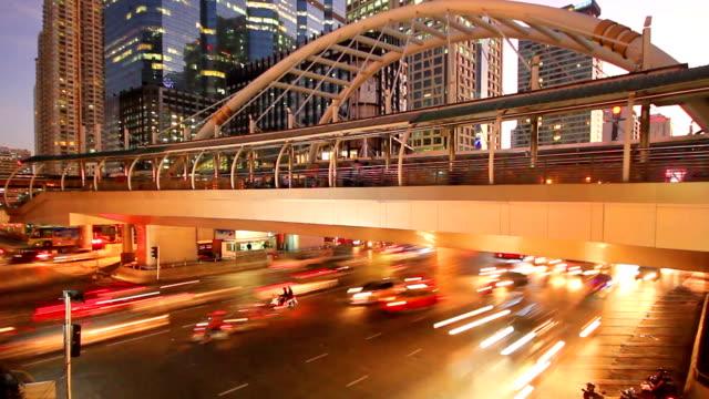 Verkehr an der sathorn road, Bangkok, thailand