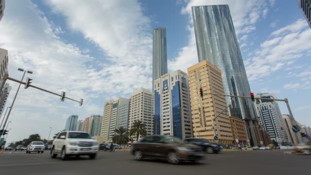 Traffic on Sheikh Rashid Bin Saeed Street, Abu Dhabi, United Arab Emirates, Middle East, Asia