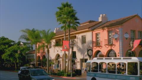 ms traffic on state street, central historic santa barbara / california, usa - santa barbara california stock videos & royalty-free footage
