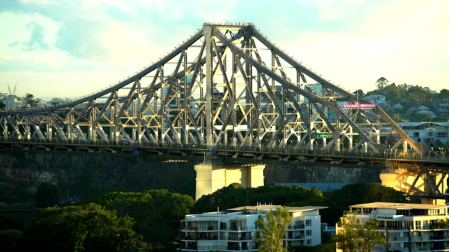 Traffic on steel structure Story Bridge Brisbane Australia