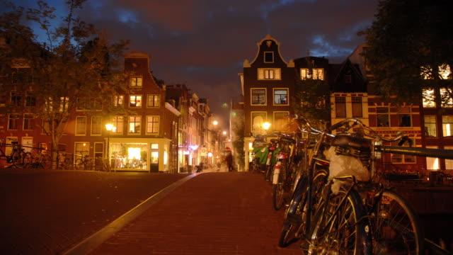 T/L, WS, Traffic on street at night, Amsterdam, North Holland, Netherlands