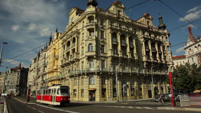 WS Traffic on street in old town / Prague, Czech Republic